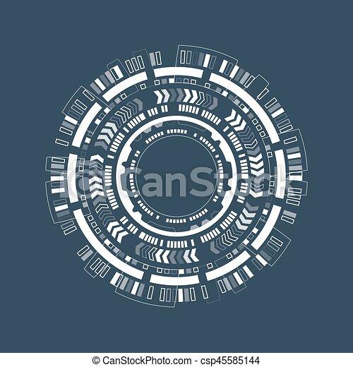 graphique, résumé, techno, utilisateur, interface., circle., futuriste - csp45585144