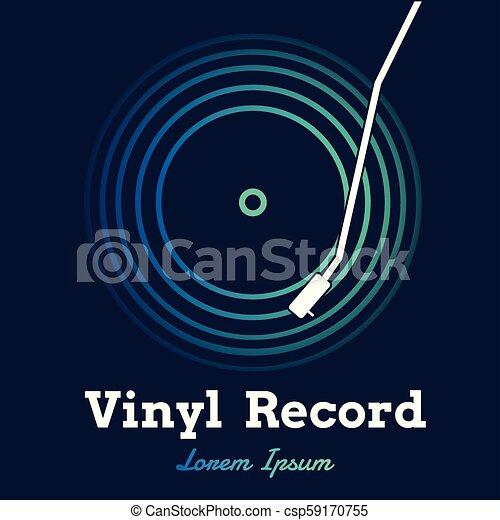 graphique, sombre, enregistrement, vecteur, musique, vinyle, fond - csp59170755