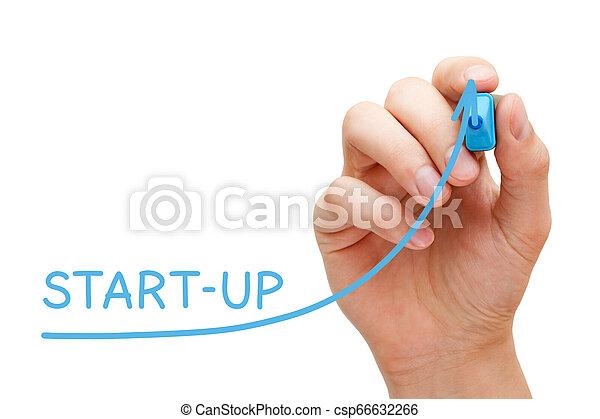 graphique, start-up, concept, business - csp66632266