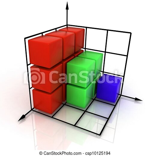 graphique, tridimensionnel - csp10125194