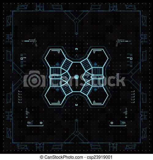 graphique, utilisateur, futuriste, interface. - csp23919001