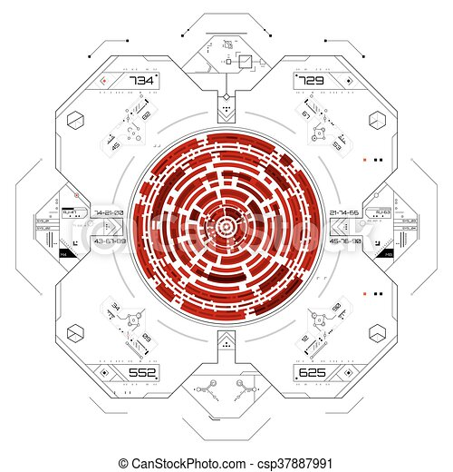 graphique, utilisateur, futuriste, interface. - csp37887991