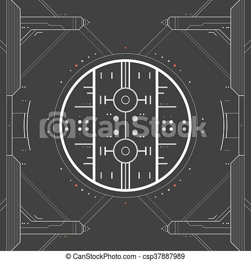graphique, utilisateur, futuriste, interface. - csp37887989