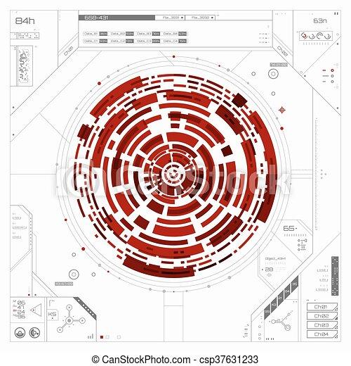 graphique, utilisateur, futuriste, interface. - csp37631233