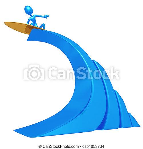 Graphique vague barre surfeur concept pr sentation figure 3d - Vague coloriage ...