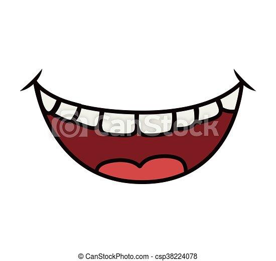Graphique vecteur bouche sourire icon dessin anim - Bouche en dessin ...