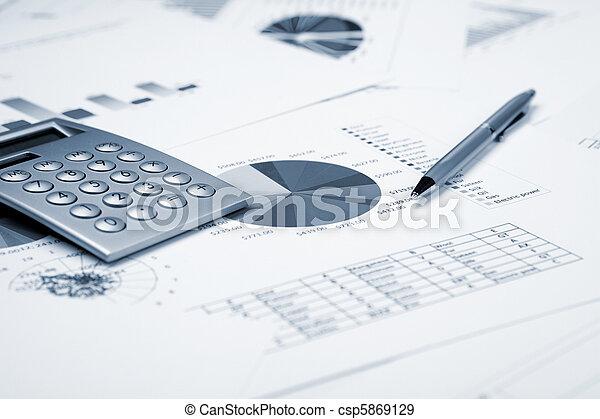 graphiques, financier, diagrammes - csp5869129