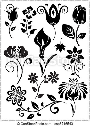 Graphis-design-flores-vector - csp6716543