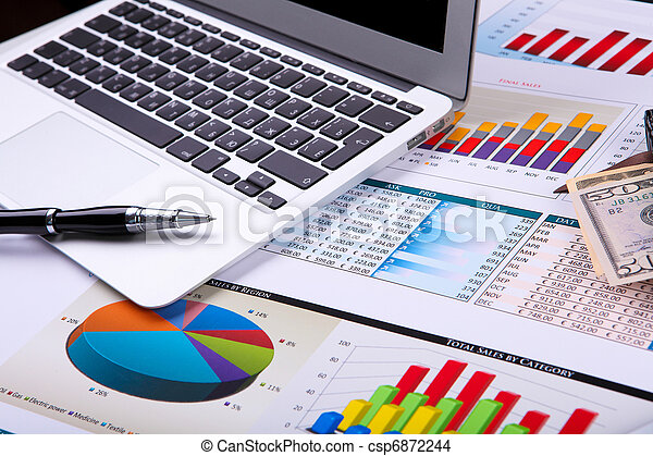Graphs, charts, business table. - csp6872244