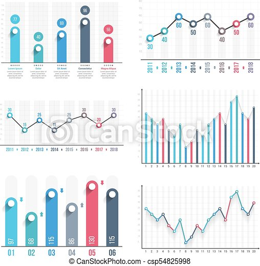 graphs bar graph and line graph templates business infographics