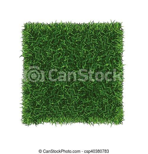 gras, football veld, vector, groene, place., spandoek - csp40380783