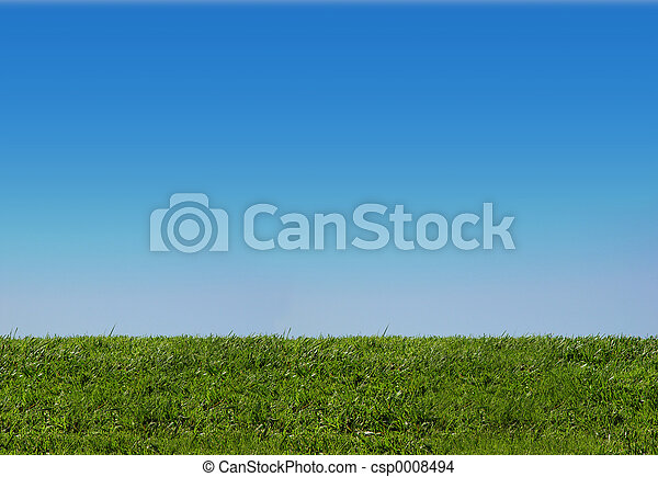 gras, hemel - csp0008494