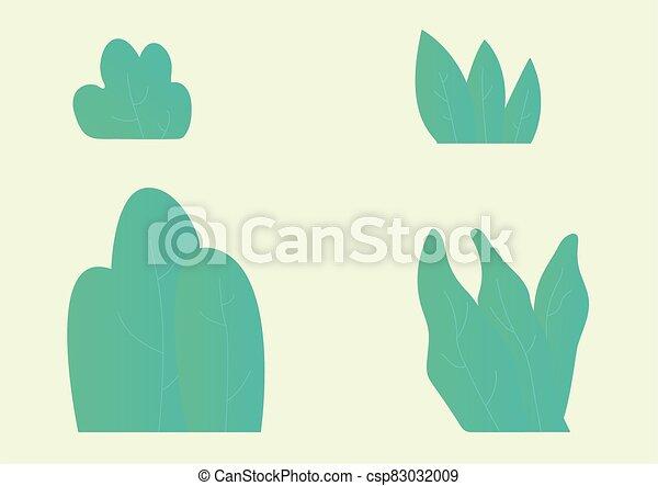 Grass Collection Modern Conceptual Design Illustration Vector - csp83032009