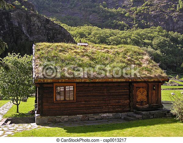 Grass Hut (Norway) - csp0013217