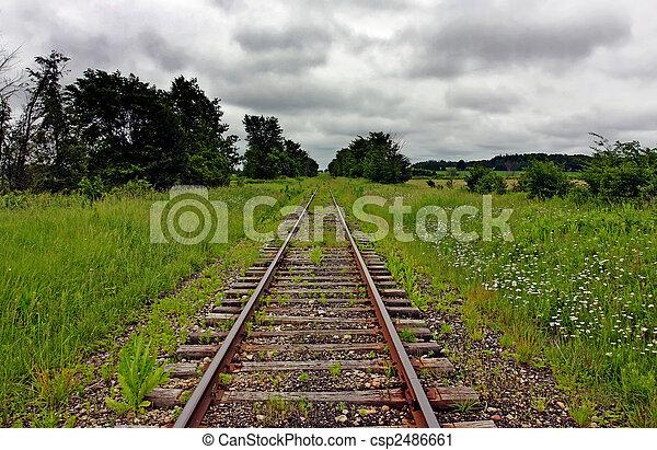 grass on a railway - csp2486661