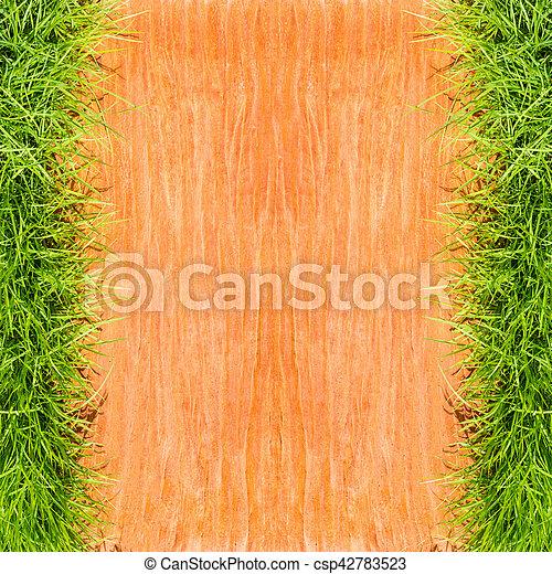grass on stone floor background - csp42783523