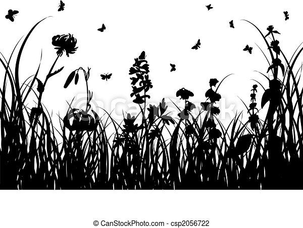 Line Drawing Grass : Green way illustration of grass road on white background vector