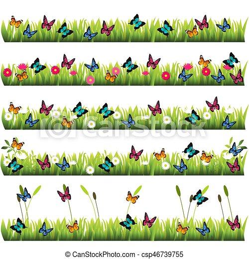 very high quality original trendy set of grass with flowers rh canstockphoto com grassland climate biome grassland climate graph