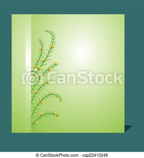 Grass With Flowers Set - csp22410248