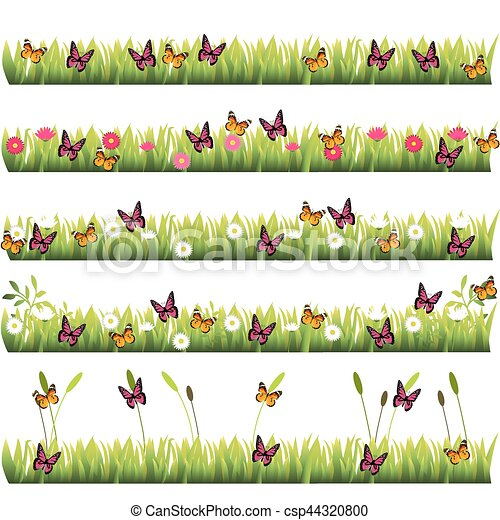 grass with flowers - csp44320800