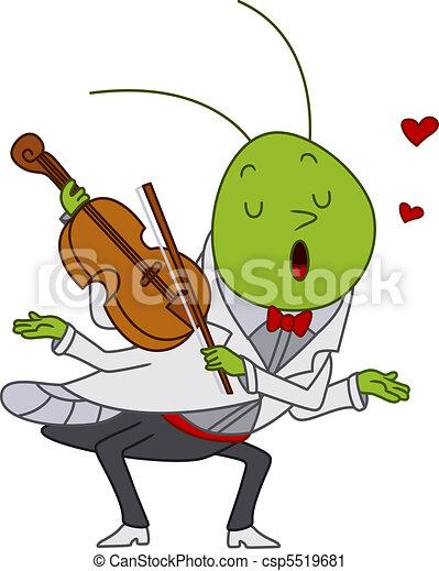 Grasshopper Playing the Violin - csp5519681