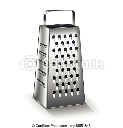 Grater isolated on white vector - csp49551845