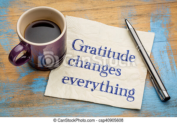 Gratitude changes everything - csp40905608
