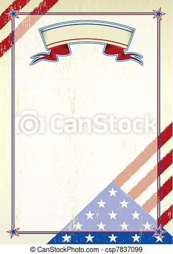gratté, américain, lettre - csp7837099