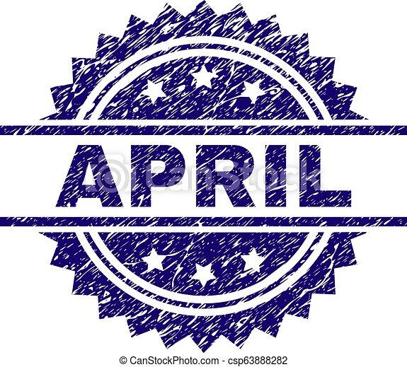 gratté, avril, textured, timbre, cachet - csp63888282