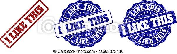 gratté, ceci, timbre, aimer, cachets - csp63873436