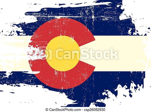 gratté, drapeau, colorado - csp26082930