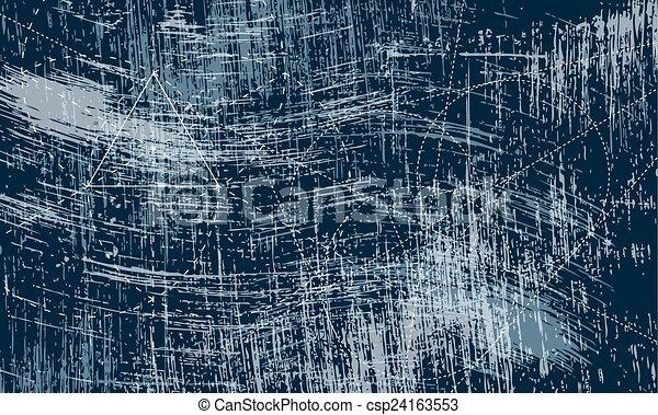gratté, géométrie, objets, transparent, fond - csp24163553