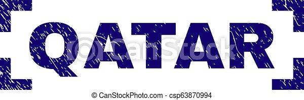 gratté, qatar, timbre, coins, intérieur, cachet, textured - csp63870994