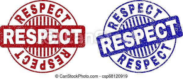 gratté, respect, timbres, grunge, rond - csp68120919