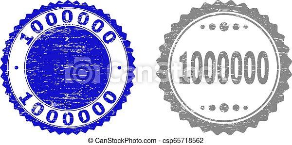 gratté, timbre, 1000000, cachets, textured, ruban - csp65718562