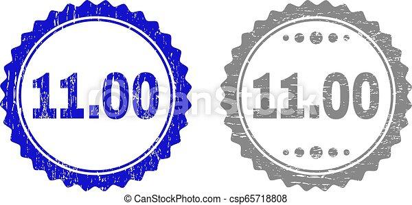 gratté, timbre, 11.00, cachets, textured, ruban - csp65718808