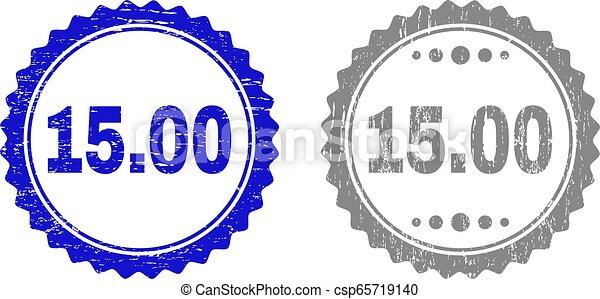 gratté, timbre, cachets, textured, 15.00, ruban - csp65719140