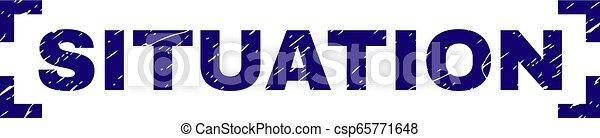 gratté, timbre, coins, intérieur, cachet, textured, situation - csp65771648