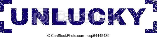 gratté, timbre, coins, intérieur, cachet, malchanceux, textured - csp64448439