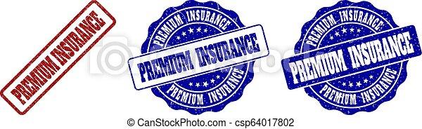gratté, timbre, prime, assurance, cachets - csp64017802