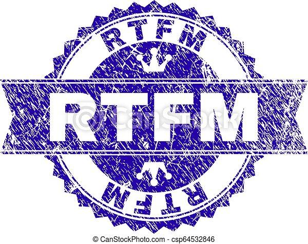 gratté, timbre, rtfm, cachet, textured, ruban - csp64532846