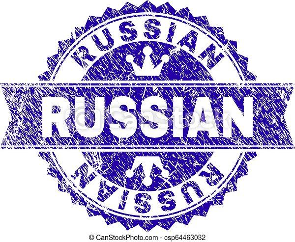 gratté, timbre, textured, cachet, russe, ruban - csp64463032