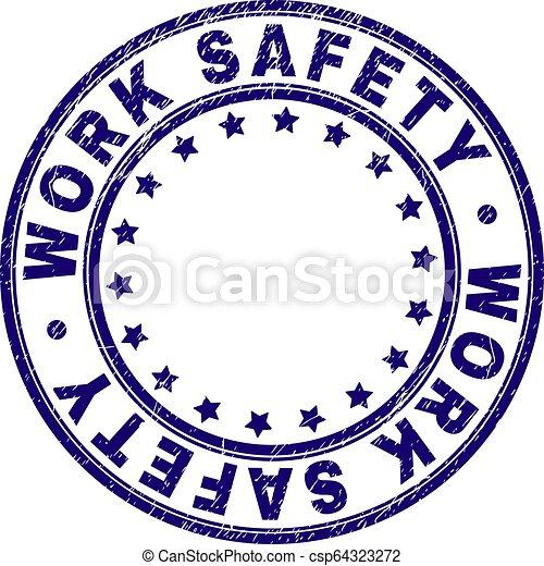 gratté, timbre, travail, label sécurité, rond, textured - csp64323272