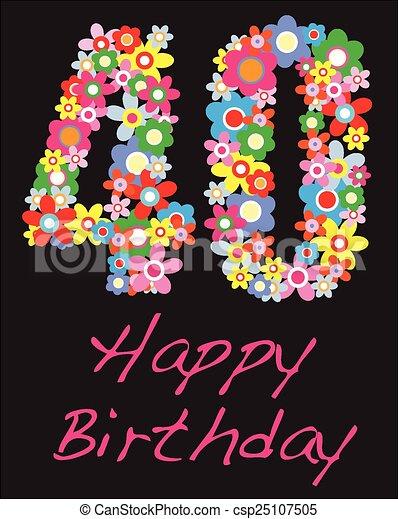 fyrtio år Grattis pa fodelsedagen, fyrtio, år. Fyrtio, hälsning, födelsedag  fyrtio år