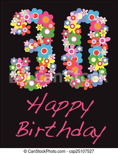 trettio år Grattis pa fodelsedagen, trettio, år. Trettio, hälsning  trettio år
