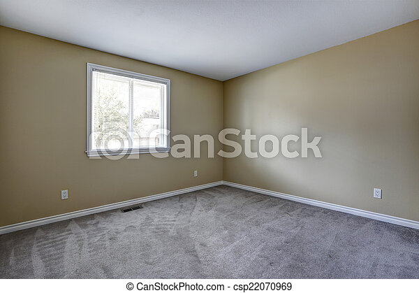 Grau Teppich Zimmer Leerer Boden Zimmer Boden Grau Fenster