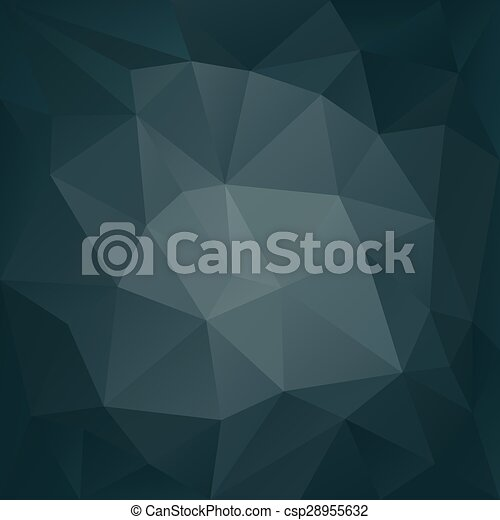 Dunkle Farben.Graue Blaues Benzin Polygonal Dreieckig Dunkle