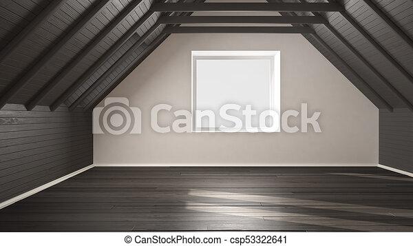 Entzuckend Graue , Decke, Boden, Hölzern, Zimmer, Dachgeschoss, Balken, Design,