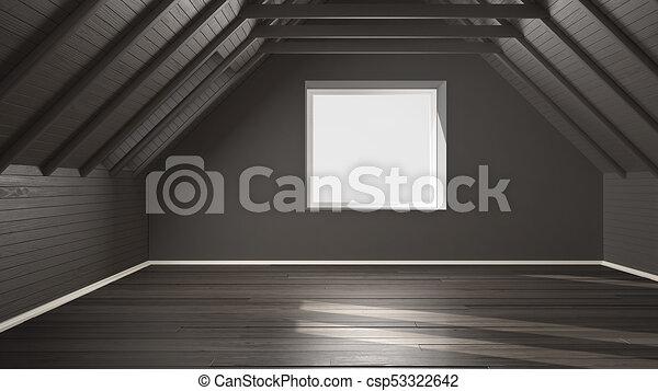 Graue , Decke, Boden, Hölzern, Zimmer, Dachgeschoss, Balken, Design,