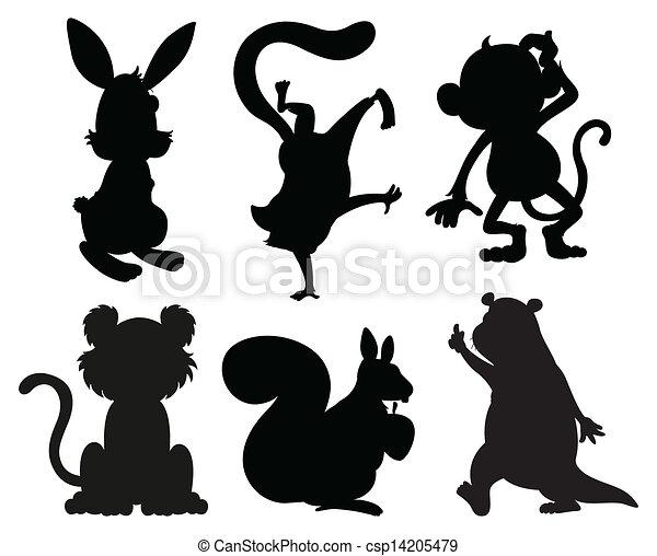 Graue , farben, tiere, schwarz. Graue , tiere, abbildung ...